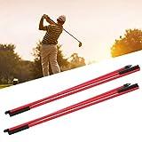 FEBT Indicador de dirección de Golf, Varilla indicadora de Golf de Fibra de Vidrio, Varillas de alineación de Golf, Plegables, Ligeras para Campo de Golf, para el hogar,(Red)