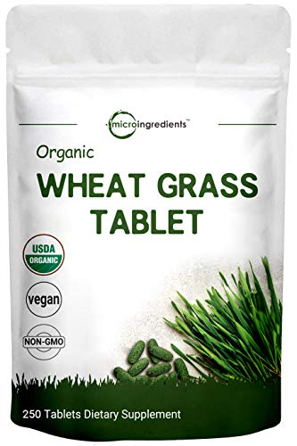 Sustainably US Grown, Organic Wheat Grass Supplement, 240 Tablets, Rich in Immune Vitamins, Fibers, Fatty Acids and Minerals, Support Immune System and Digestion Function, Vegan Friendly