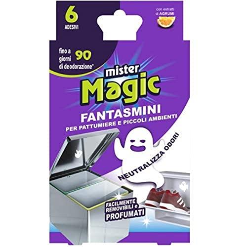 Mister Magic, Zero Odori per Pattumiere e Piccoli Ambienti, Pratici Adesivi per la...