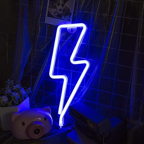 OHLGT - Luz LED de neón, rayo de neón, luz decorativa de...
