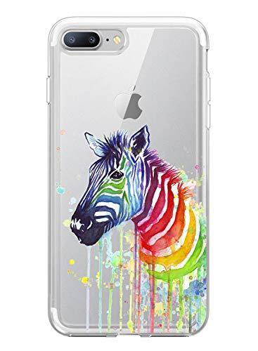 Suhctup - Carcasa compatible con iPhone 6/6S, ultrafina, de silicona transparente con dibujos animados, antiarañazos, ultra ligera y transparente