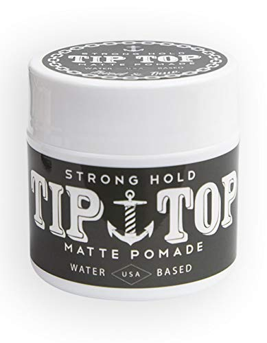 Tip Top Matte Water Based Strong Hold Pomade 4.25oz