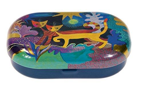 Fridolin 18671 Boîte pour lentilles de Contact Rosina Wachtmeister-Pays des Merveilles, Métal, Multicolore, 9x6x2,5 cm