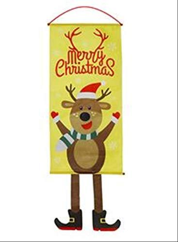 YMKCMC Decoración Navideña Decoraciones Navideñas para El Hogar Decoración De Puertas Adornos Colgantes Navideños Paño para Colgar Ventanas Regalos Navideños ProductosCaqui Oscuro