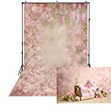 5x6.5ft Colorful Fantasy Background Pink Painting Flower Backdrop for Photography Baby Shower Backdrop Maternity Shoots Newborn Photo Studio Background Seamless XT-6760