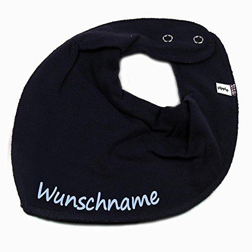 Elefantasie Elefantasie HALSTUCH mit Namen oder Text personalisiert dunkelblau für Baby oder Kind