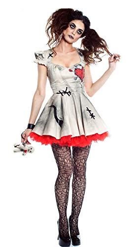 COOGG Matrimonio Fantasma Sposa Cosplay Costumi Bambola Voodoo Costumi di Halloween per Le Donne Adulto Anime Cosplay Ragazze Vampiro