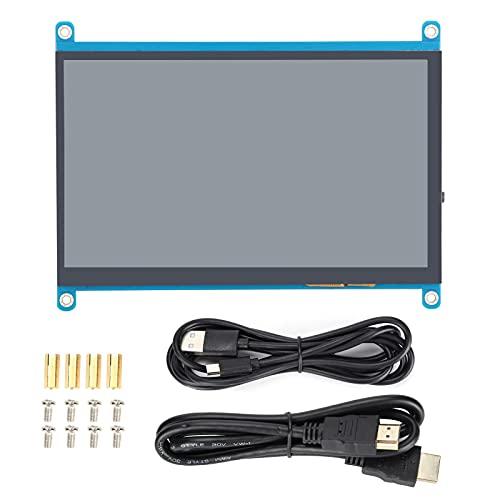 Pantalla de visualización de 7 Pulgadas Monitor retroiluminado Accesorios de computadora sin Disco HDMI Pantalla Secundaria de 1024 × 600 Pantalla LCD((IPS Touch Version))