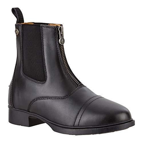 SUEDWIND FOOTWEAR Paddock Stiefelette »Kids BZ LACE Echtleder | Cambrelle-Lining | REIT-Schlupf-Schuh mit Komfort-Gummisohle | Reißverschluss hinten | Kinder-Schuh | Farbe Schwarz | Gr. 36
