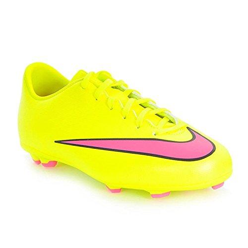 Nike Jr. Mercurial Victory V FG, Scarpe da calcio unisex per bambini, Unisex bambino, volt hyper pink black, 35.5