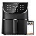 Cosori Smart WiFi Air Fryer 5.8QT(100 Recipes), 1700 Watt Programmable Base for Air Frying, Roasting and Keep Warm 11 Cooking Preset, Digital Touchscreen, 2 Year Warranty (Renewed)