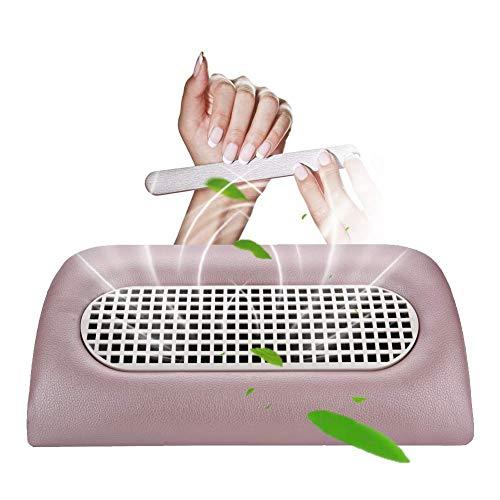 Aspirapolvere per unghie, composto da 3 ventole, per salone da nail art, raccogli polvere per acrilico, dispositivo UV per gel, per manicure, pedicure, con 2 sacchetti per la polvere di ricambio