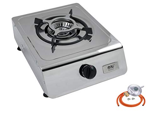 NJ-100 Portable Camping Single Burner Gas Stove Stainless Steel LPG Cooker 4.0kW