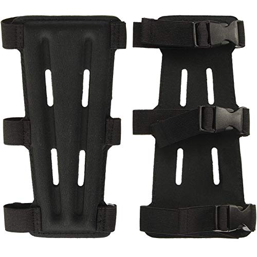 Archery Arm Guard, Arm Protector with 3-Strap Accessory, Forearm Protector Adjustable Lightweight, comfotable Arm Protector for Shooting Practice,Bow Hunting Accessories for Youth& Adults(2 Pack)