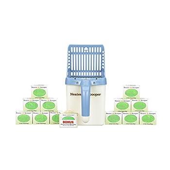 Neater Pet Brands Scooper et 180 Count Recharge Sac Vrac Pack Bundle Chat litière Tamis Scoop système de valeurs avec Sacs Extra Bleu