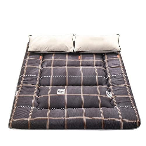 Tatami materasso pieghevole da campeggio, materasso letto pieghevole, materasso per adulti con 1 paio di cuscini in fibra, matrimoniale