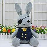 Kuroshitsuji Black Butler Muñeca de peluche Conejo Cosplay Costume Kuroshitsuji Ciel Phantomhive Lolita Rabbit Muñeca de peluche Toys30cm