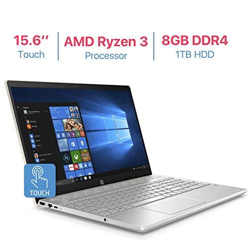 HP Pavilion 15.6'' Touchscreen HD WLED-Backlit Display Laptop, AMD Ryzen 3 2200U...