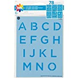 Delta Creative 0 Plastic Stencil (6 sheets), 6' x 7.75', Alphabet SANS Serif