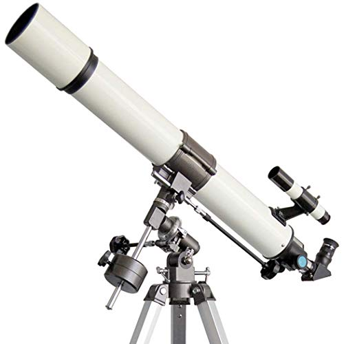 GGPUS Telescopio Refractor portátil TQ1-80TL - Óptica de Vidrio Totalmente recubierta - Telescopio Ideal para Principiantes con Montaje ecuatorial