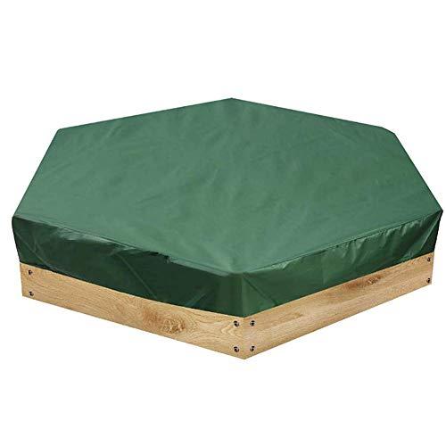 Molinter Bâche de protection pour bac à sable hexagonal 180 x 150 cm