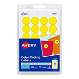 Avery Print/Write Self-Adhesive Removable Labels, 0.75 Inch Diameter, Yellow, 1,008 per Pack (05462) color laser printers May, 2021