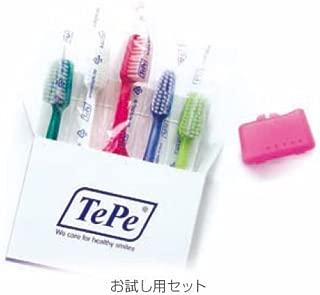 【テペ】セレクトコンパクト ミディアム お試し用 1箱【歯ブラシ】【ふつう】5本/箱 色(アソート)(ブラシヘッドキャップ1個付き)Select Compact