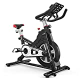 Knight Black Bicicleta estática, Mute Magnetron Spinning Bike, Bicicleta estática para Interiores Tipo de Equipo de Ejercicios para el hogar, Bearing150KG