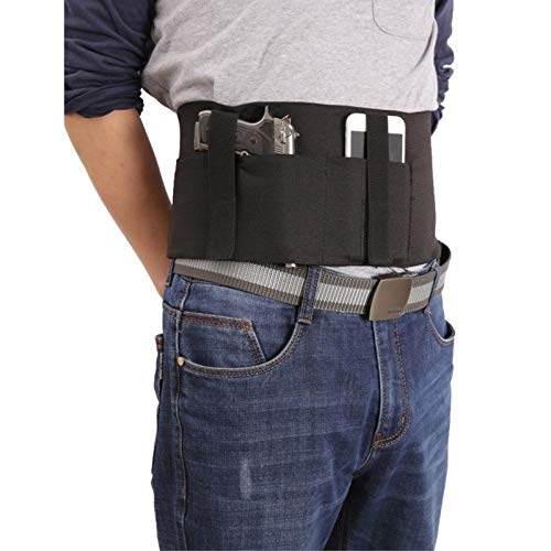 JXWANG 37 Pouces Tactical Belly Band Holster Caché Carry Pouch Waist Bag Invisible Elastic Girdle Belt pour La Chasse en Plein Air
