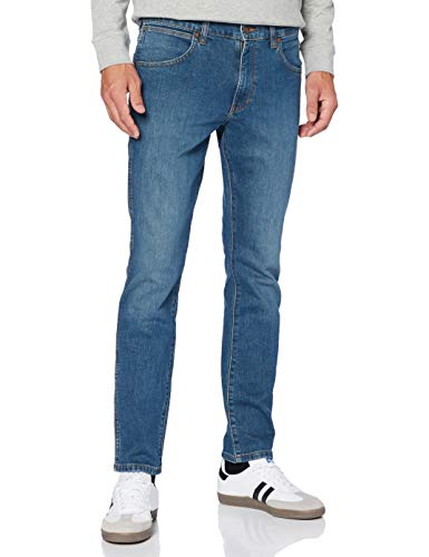 Wrangler Larston Jeans, Hunter Blue, 34W x 32L Uomo