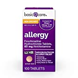 Basic Care Fexofenadine Hydrochloride Tablets 60 mg, Allergy Relief, 100 Count