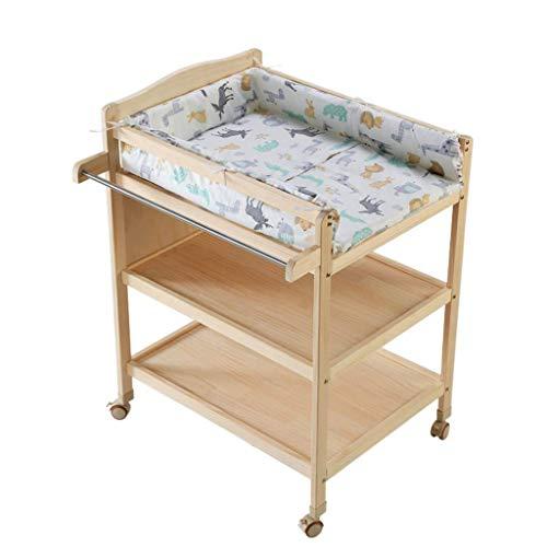 LZQBD Family Care/Windel-Station mit Regale Massivholzbabypflege Tabelle Kleidung wechseln Tabelle -Tisch Nursery Organizer for Jungen-Mädchen-Kleinkind-Baby-Kleinkind