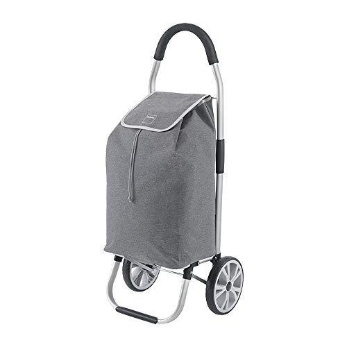 Metaltex Einkaufstrolley, zusammenklappbar, Grau, 45 l