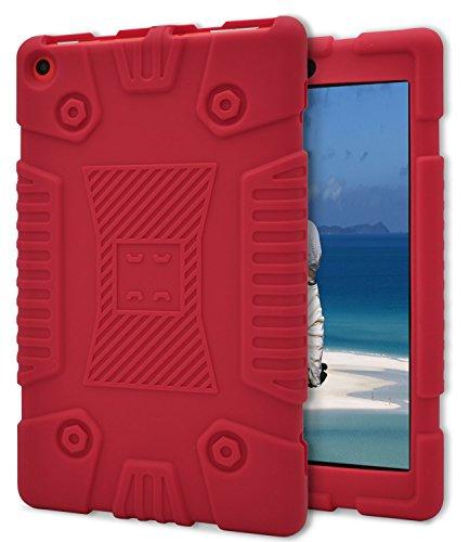 Dailylux Amazon Fire HD 8 2017 Hülle Silikon stoßfest schützenden Cover-blau