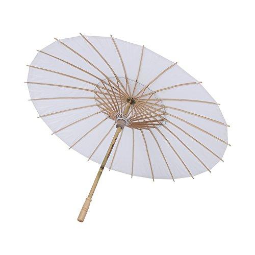 Paraguas de Papel Blanco, Sombrillas para Sombrillas Chinas para ExhibicióN de Arte, Paraguas Decorativo Nupcial y DecoracióN de Fiesta de Favor de Boda, Paraguas de Papel de Bricolaje(42cm)