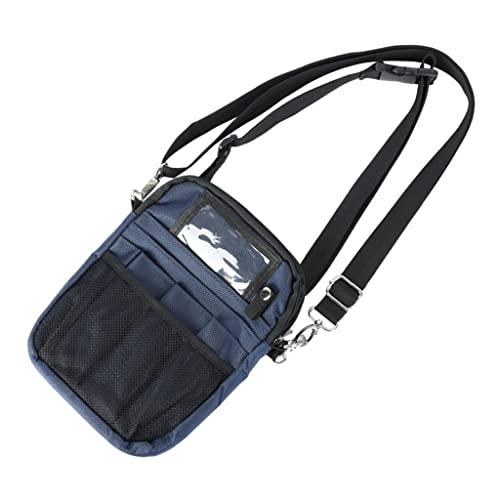 F Fityle Enfermera Riñonera Bolsillos Almacenamiento de Utilidad Soporte de Cinta Bolsa de Cintura con múltiples Compartimentos Bolsas de enfermería para - Azul Oscuro