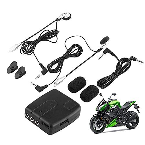 Sistema de comunicación por radio bidireccional, sistema de intercomunicación para motocicleta, ATV, motocicleta, intercomunicador de casco a casco con cable