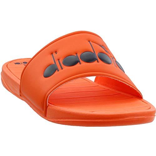 Diadora Mens Serifos Plus Slides Sandals Casual - Orange - Size 8 D