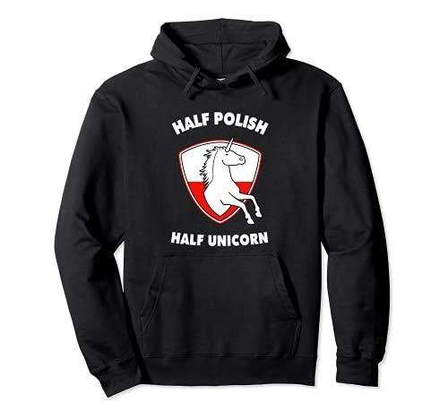Unicornio Polonia Bandera Polaca 2022 para Polski Niños Niñas Mujeres Sudadera con Capucha