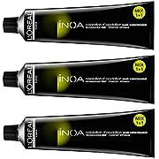 L'Oreal, colorazione per capelli Inoa 6.0,biondo scuro, intenso, 3tubetti da 60 ml, senza ammoniaca (etichetta in lingua italiana non garantita)