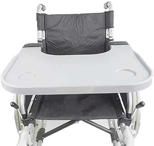 Mesa de bandeja de regazo de silla de ruedas universal con soporte de taza, silla de niño portátil bandejas universales Escritorio Ajuste para sillas de ruedas manuales eléctricas o eléctricas para el