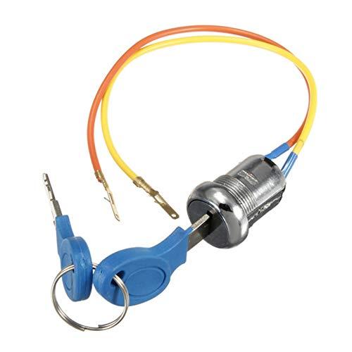 XIAOFANG Cerraduras de Claves de Encendido Cerraduras 2 Llaves 2 Cables Fit...