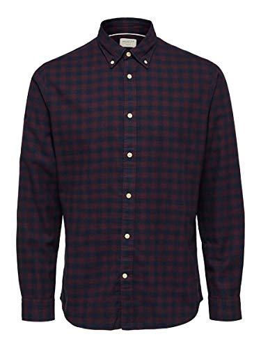 SELECTED HOMME Male Hemd Flannel LPort Royale