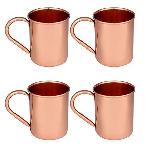 Vaso de cobre martillado de alta calidad, vaso de cobre 100% puro para agua, mejor que los vasos, más seguro que el plástico (diseño 5)