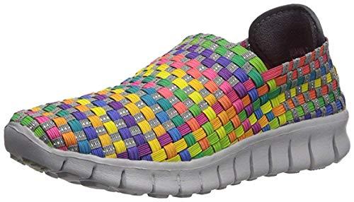 Corkys Womens Joann Slip On Casual Fashion Sneakers,Bright Multi,6