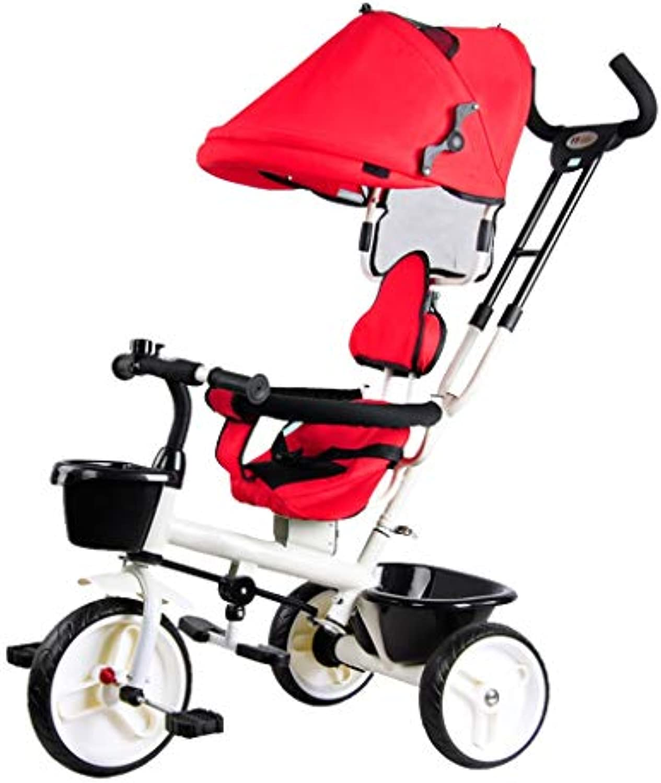 Dreirder Trike Kinder Dreirad Licht Fahrrad 1-6 Jahre Alt Baby Baby Fahrrad Kind Fahrrad Junge Mdchen Spielzeug Kohlenstoffstahl Material Kann Als Geschenke 3 Farben Verwendet Werden (Farbe   rot)