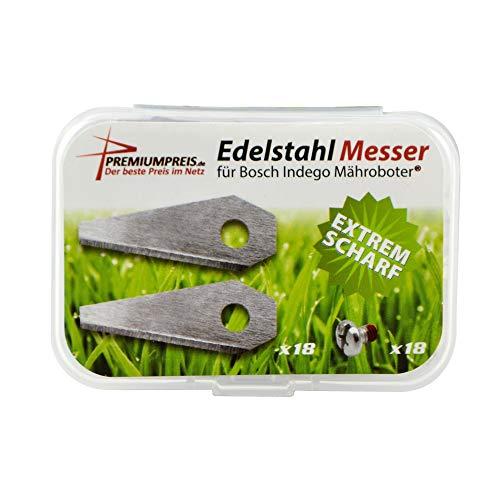 Ersatz Messer Klingen für Bosch Indego Mährobotor (1mm / 4,5g) inkl. Schrauben - Premiumpreis® (18)