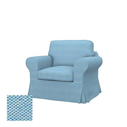Soferia Ersatzbezug fur IKEA EKTORP Sessel, Stoff Nordic Blue, Blau