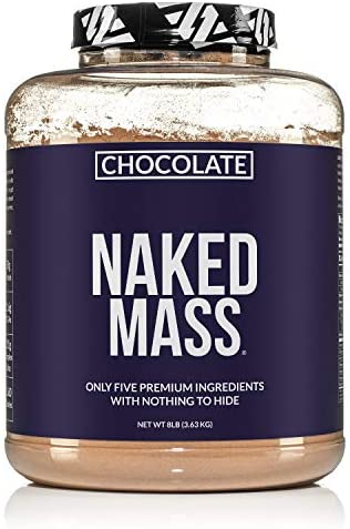Chocolate Naked Mass All Natural Chocolate Weight Gainer Protein Powder 8lb Bulk GMO Free Gluten product image