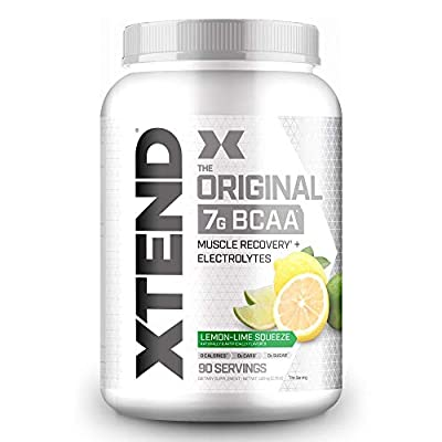 XTEND Original BCAA Powder Lemon Lime Squeeze | Sugar Free Post Workout Muscle Recovery Drink with Amino Acids | 7g BCAAs for Men & Women | 90 Servings